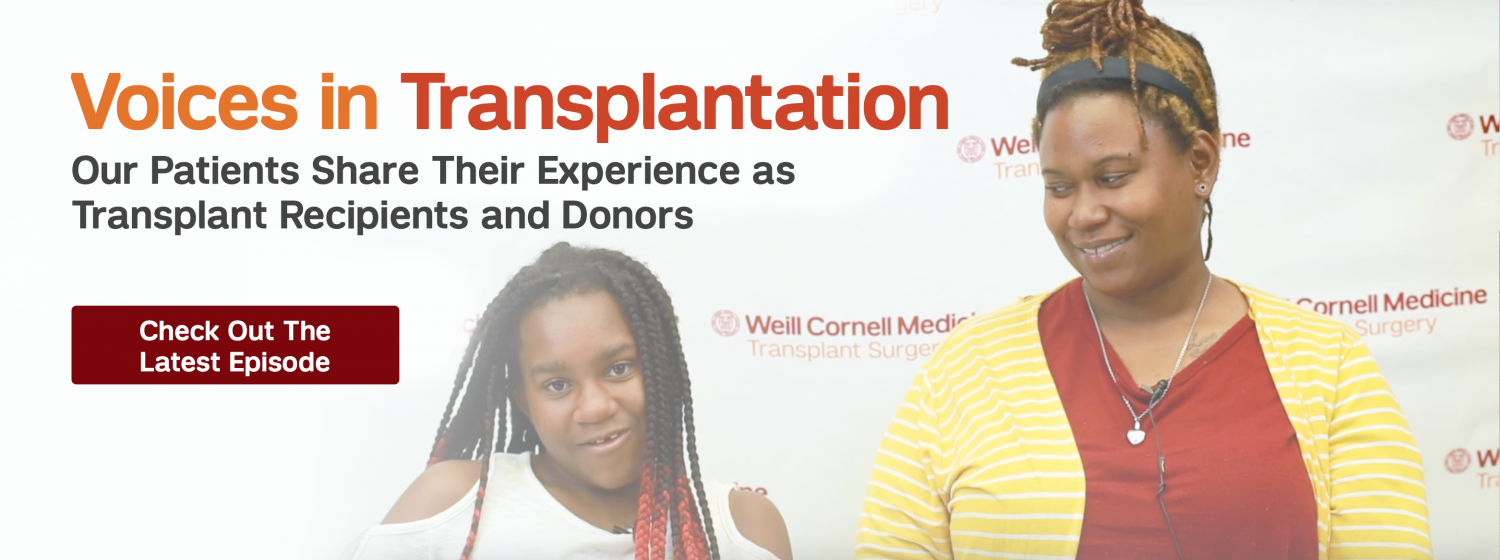 Voices in transplantation